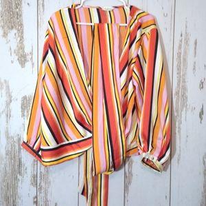 C.O.C Vintage style wrap blouse